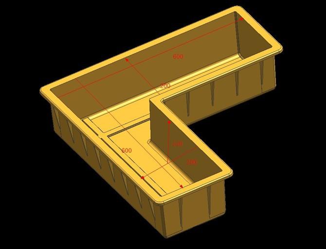 电缆槽压顶模具CAD
