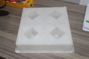 四孔水泥植草彩砖塑料模具
