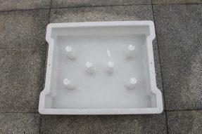 六孔缺口边沟盖板塑料模具