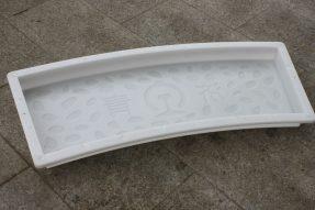 济青线路弧形鹅卵石高铁盖板塑料模具