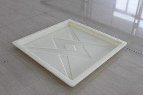 闪电荔枝纹水泥便道彩砖模盒