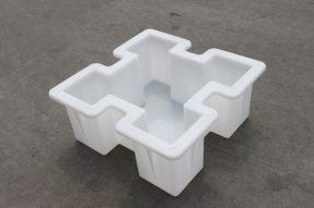 水泥方格骨架型生态护坡砖模具