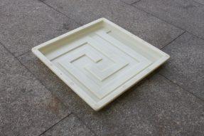 广场艺术条纹步道彩砖模具模盒