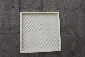 ABS塑料材质菱形条纹水泥地砖模具