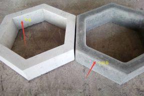 水泥空心护坡六棱砖预制案例