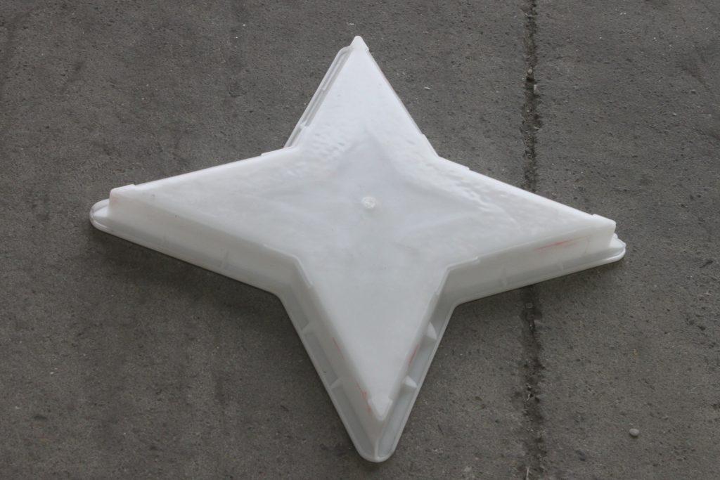 四角星彩砖塑料模盒背面