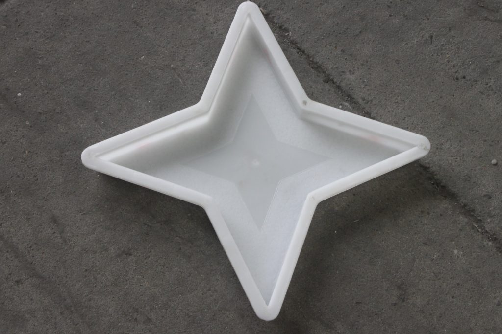 四角星彩砖塑料模盒