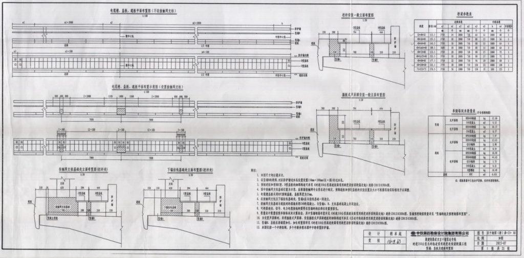 水泥电缆槽、盖板、遮板安装图