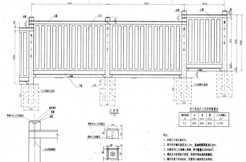 防护栅栏塑料模具