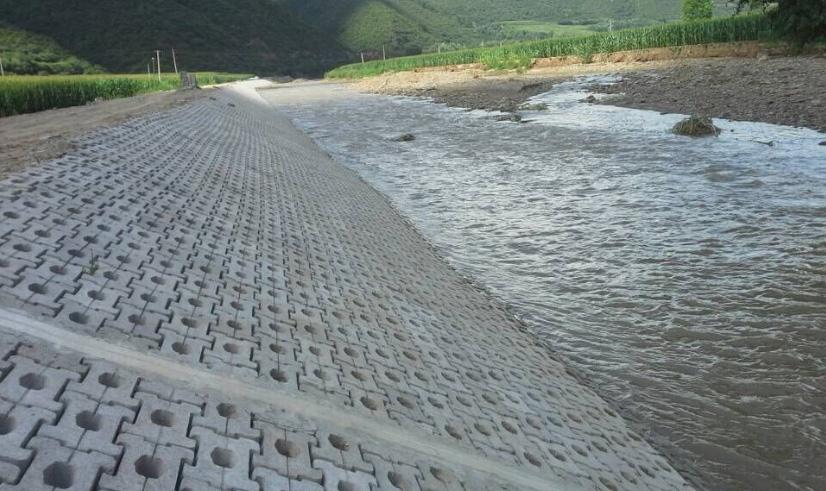 生态砖护坡