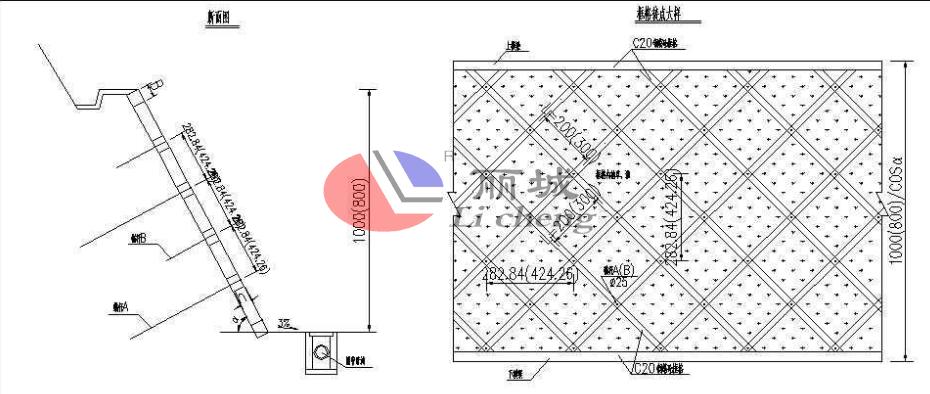 十字型护坡模具设计图