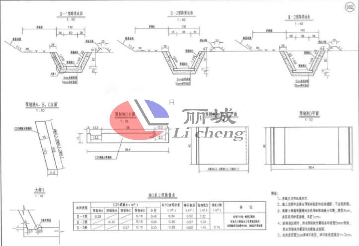 排水沟模具预制件设计图