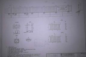 桥梁防撞护栏模具使用设计施工图纸