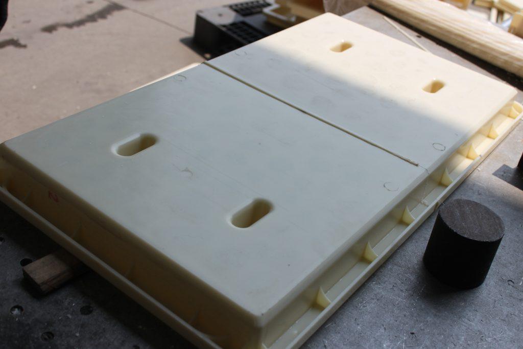 手工焊接RPC盖板模具成品