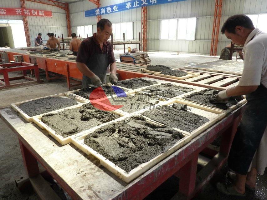混凝土盖板浇筑平铺过程