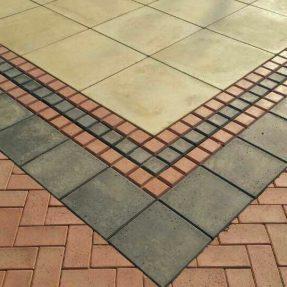 步道彩砖模具砼制品搭配使用案例