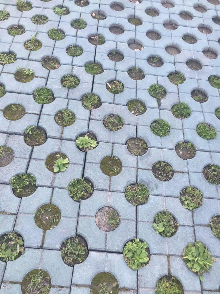 停车场步道彩砖模盒