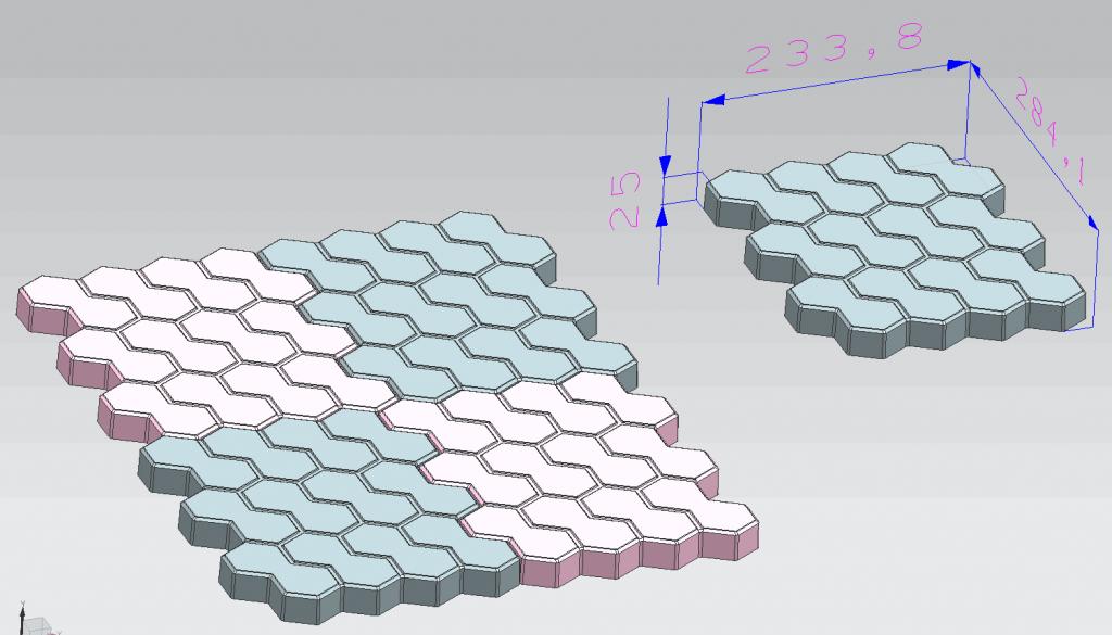 小八字彩砖使用造型图
